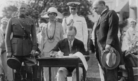 Coolidge Signs 1924 Immigration Act