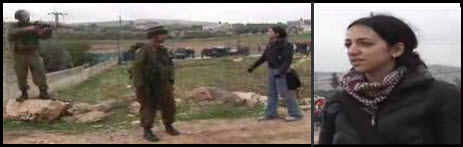 Unarmed palestinian woman resists Israeli troops in Gaza - January 2008