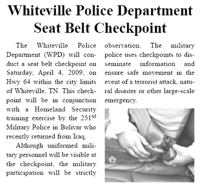 Hardeman County, Tennessee Bulletin Times clipping