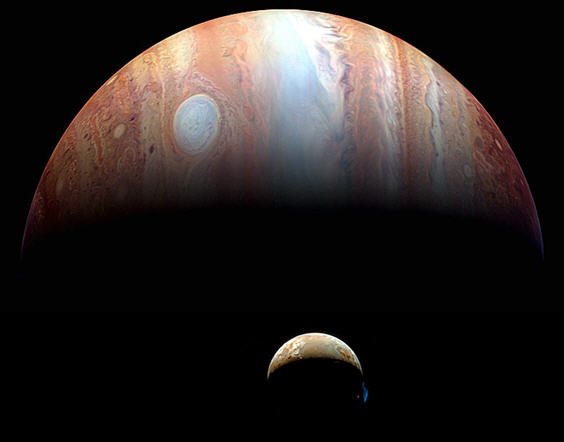 Jupiter-Io Montage by New Horizons: Credit: NASA, Johns Hopkins U. APL, SWRI